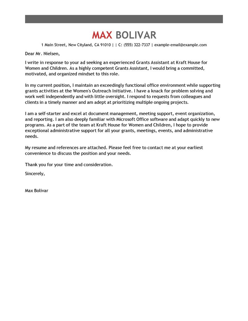 Administrative Assistant Resume Cover Letter Sample