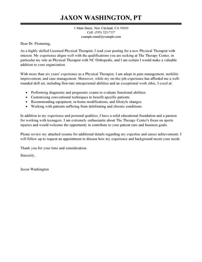 sample letter of recommendation for physical therapy school