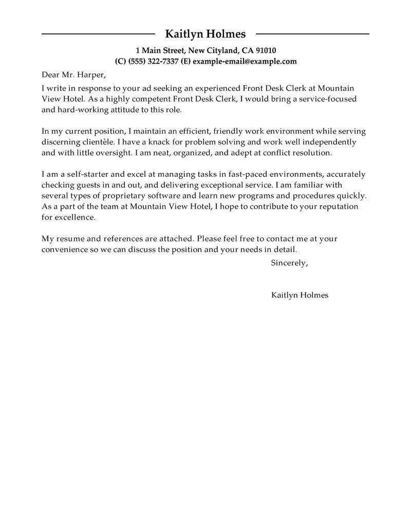 judicial clerk cover letter