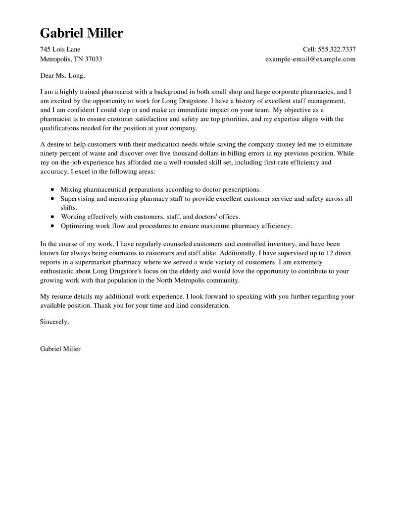 Medical Doctor Cover Letter Sample