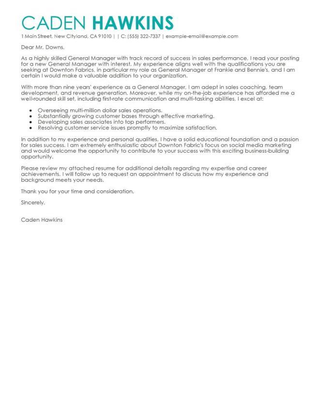 Cover Letter Teaching Job