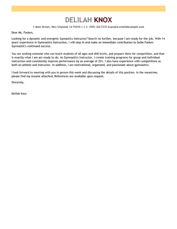 Culinary Instructor Cover Letter - Best Culinary 2017