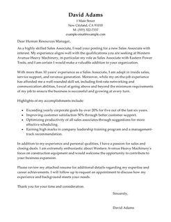 Best Customer Service Sales Associate Cover Letter