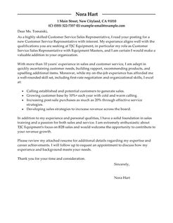 Best Customer Service Representatives Cover Letter Examples  LiveCareer