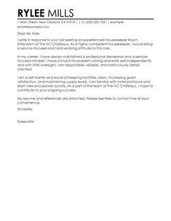 Cover letter service attendant  Norex International