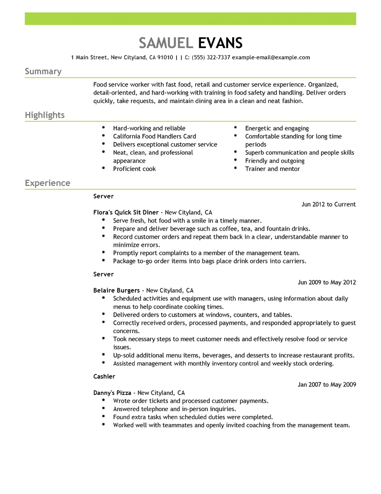 Resume CV Cover Letter Resume The Best Resume Examples For
