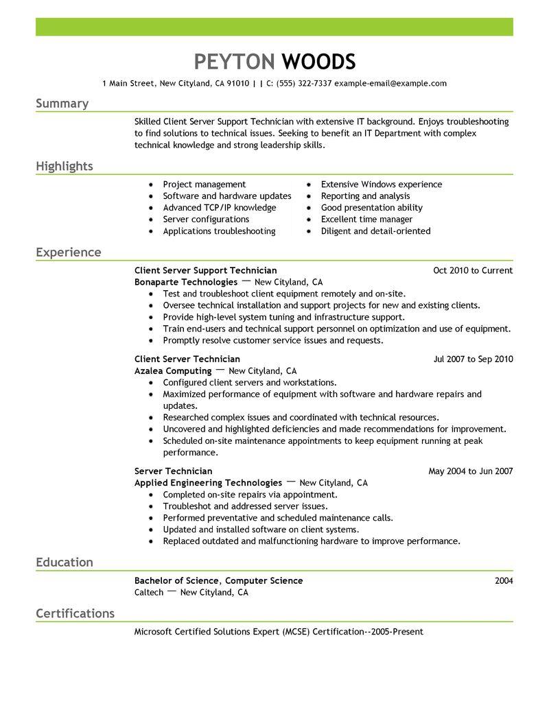 Nail Tech Resume Sample - Professional Resume Templates •