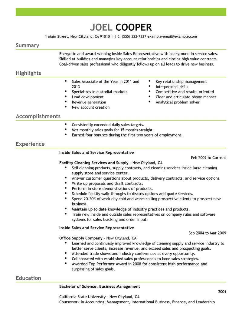 Financial Services Representative Resume Professional Personal  Sales Representative Resume Examples
