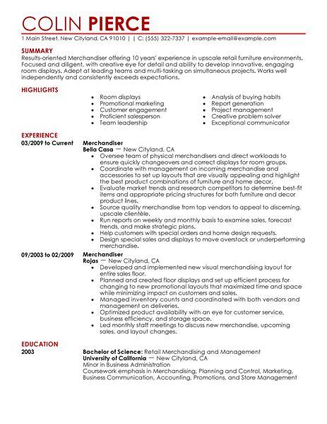 Merchandiser Retail Representative Part Time Resume