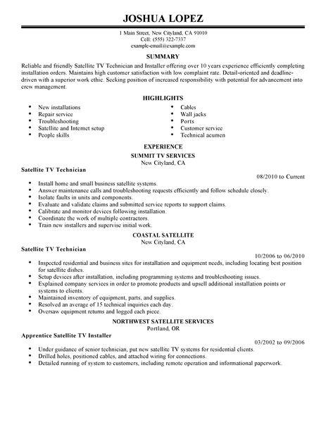 Tv Writer Resume Sample