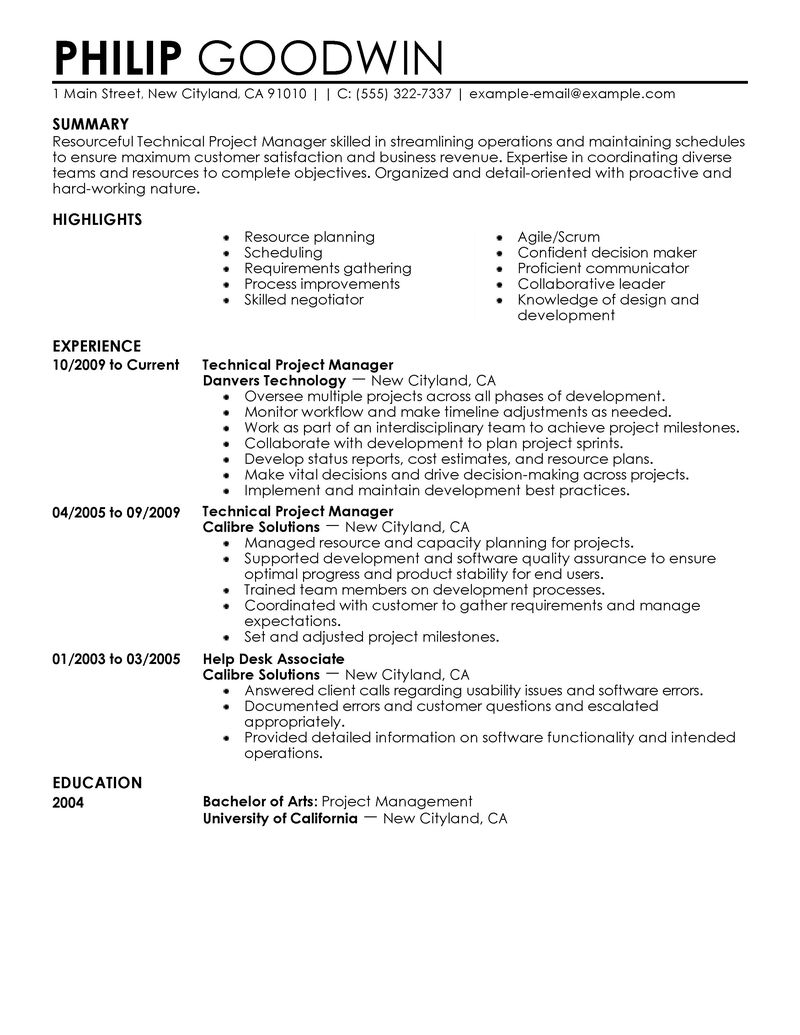 best resume examples for tech jobs