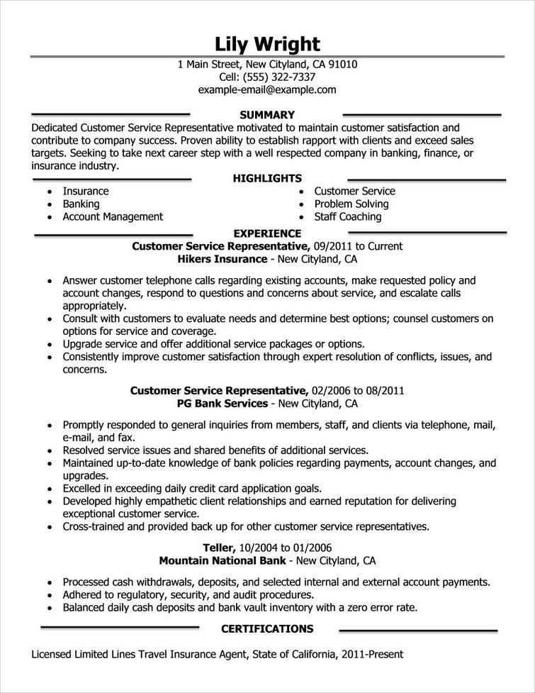 Best Customer Service Resume Examples  Examples Of Resumes