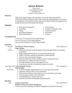 Supervisor Resume Examples Media & Entertainment Resume
