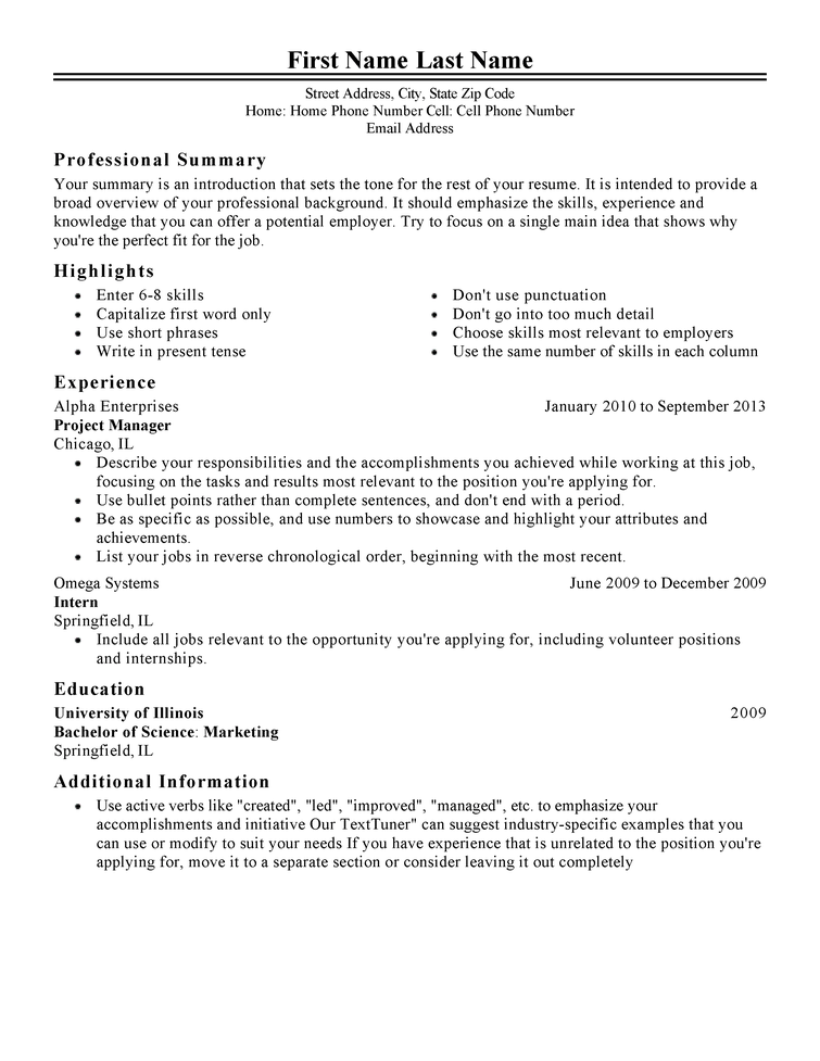 Type Of Resume Format Resume Samples Types Of Resume Formats  Type Of Resume