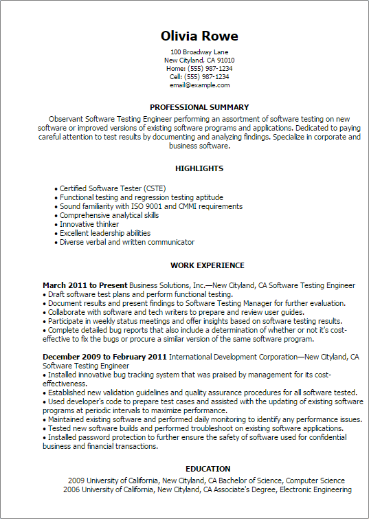 Computers  Technology Resume Templates to Impress Any Employer  LiveCareer