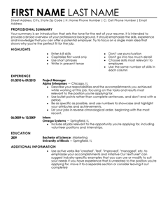 Contemporary Resume Templates To Impress Any Employer LiveCareer