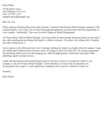 contact person fashion design cover letter contribution ...