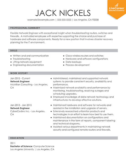 9 Best Resume Formats Of 2019 Livecareer