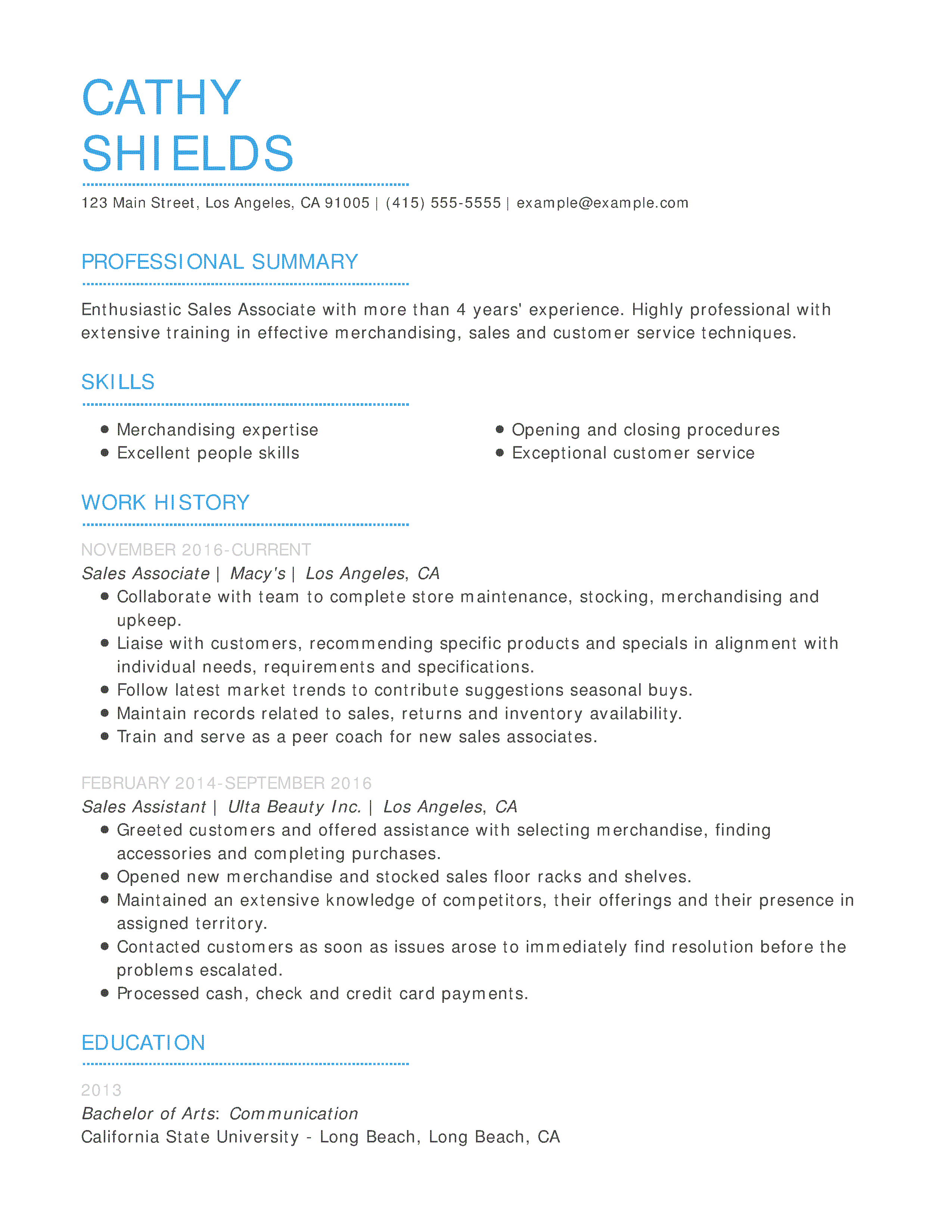 free daycare resume templates