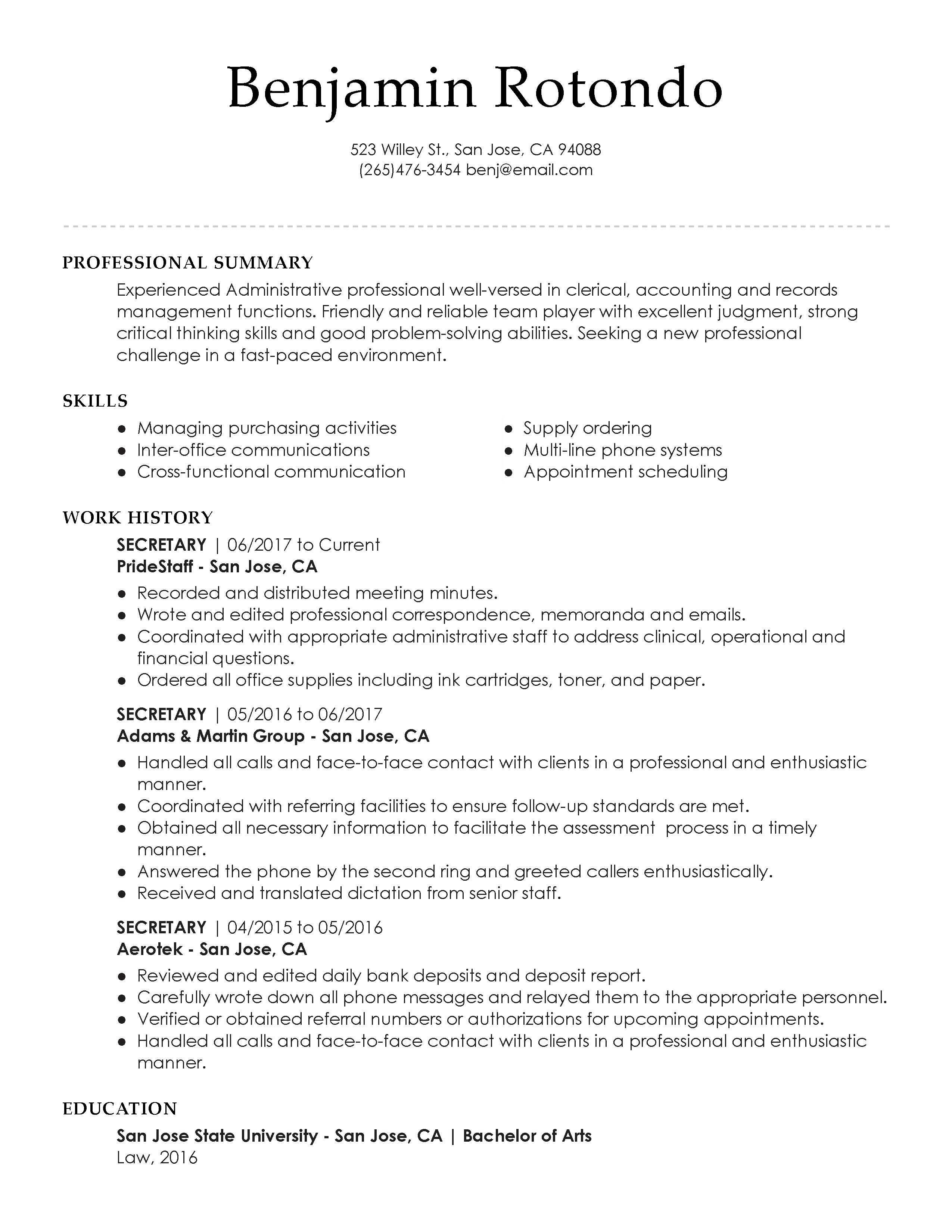 View 30 Samples Of Resumes By Industry & Experience Level