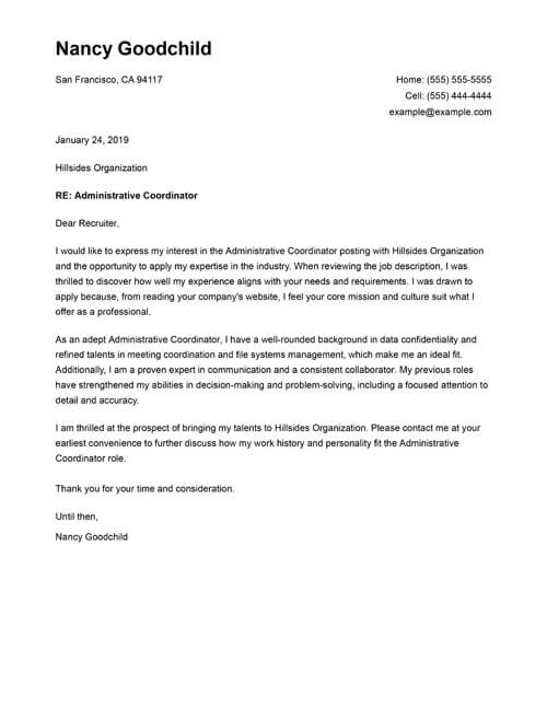 Free Cover Letter Templates  Write a Professional Cover