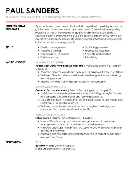resume templates insightful