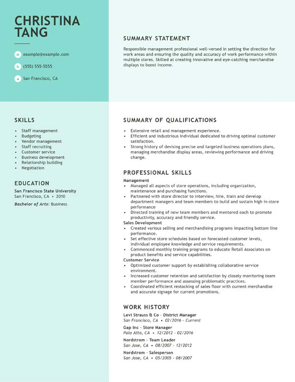 resume with no work experience format