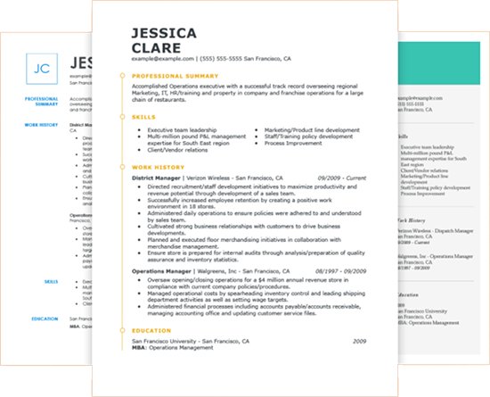 bullet point resume templates free