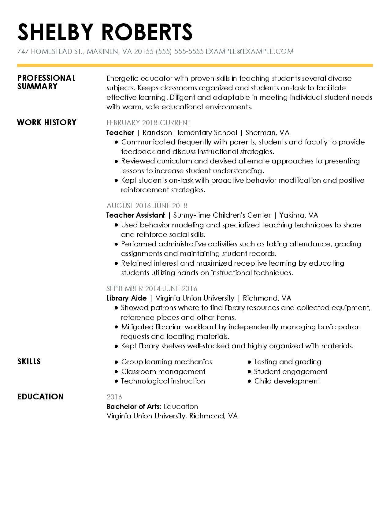other word for experience on resume