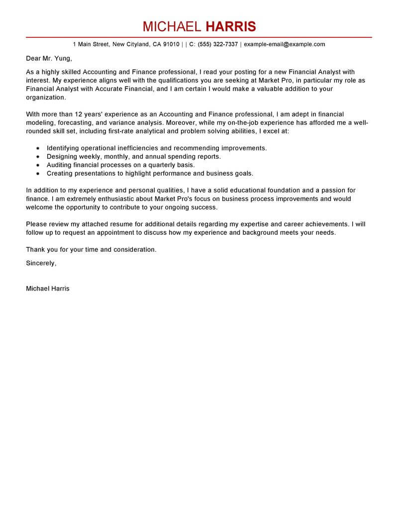 accounting firm cover letter