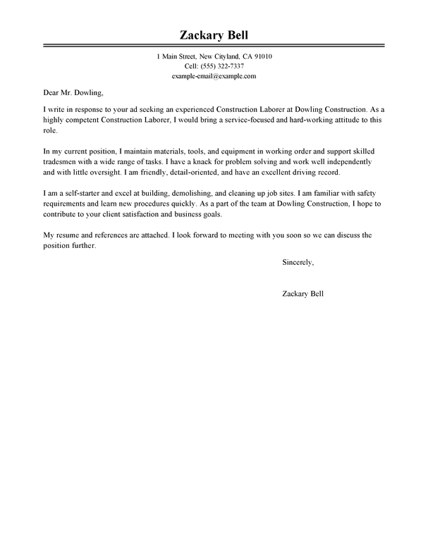 Resume Lication Letter