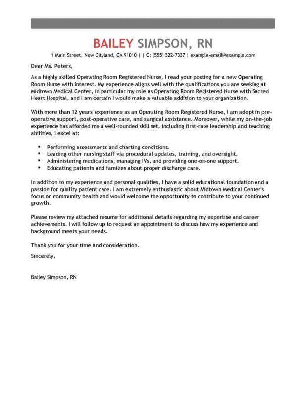 Cover Letter Example For Nursing Job Application | Howtoviews.co
