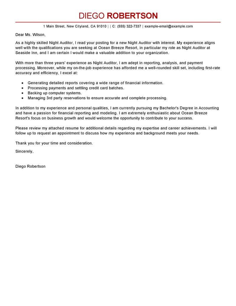 Cover Letter For Internal Audit Internship - Inspirational ...