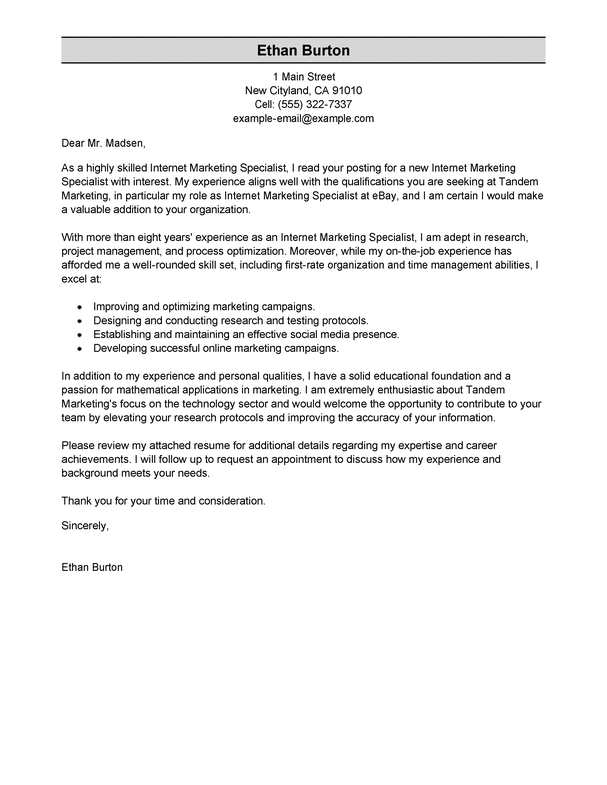 Amazing Best Cover Letter Marketing With Additional 50 Of For Doent Template