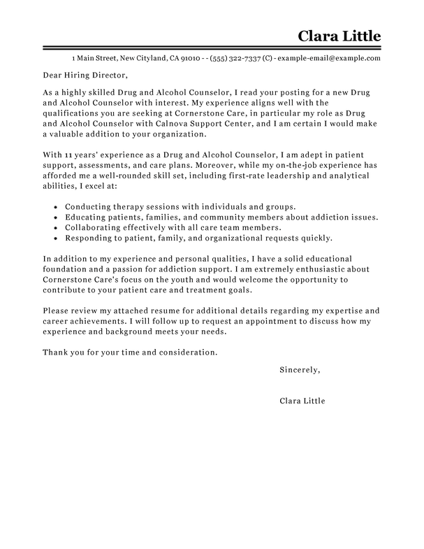 Cover Letter Abuse Crisis Counselor