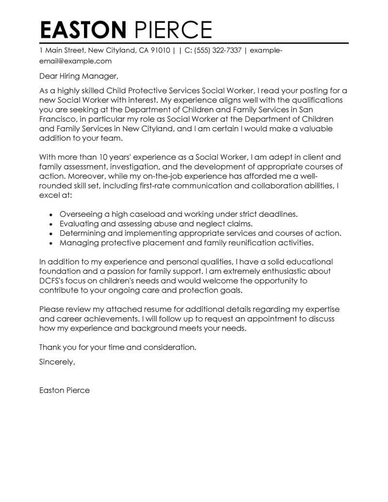 Best Social Services Cover Letter Examples  LiveCareer