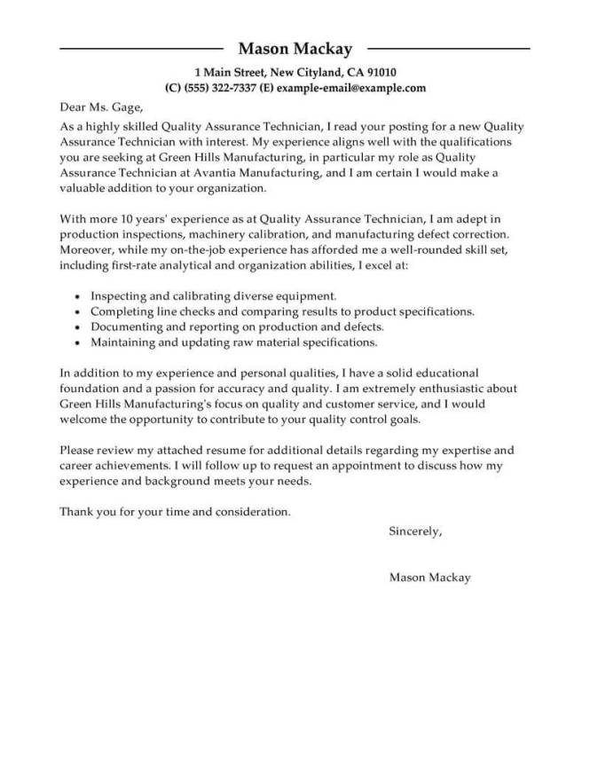 Quality Inspector Resume 16 Cover Letter Exles For Control Fire