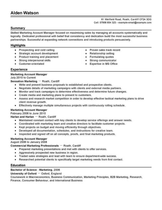 best account manager resume example livecareer - Sample Account Manager Resume