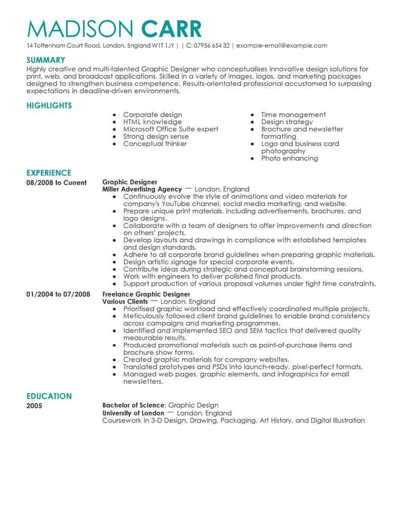 Best Graphic Designer Resume Example LiveCareer