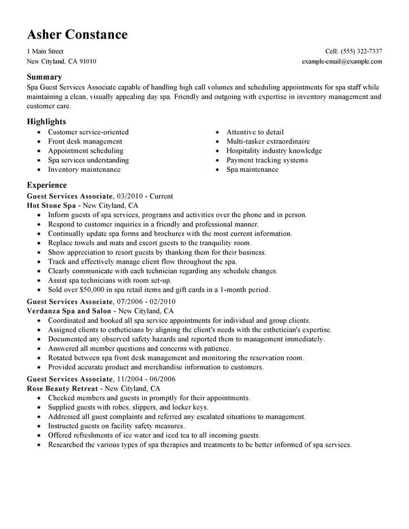 job resume examples for customer service