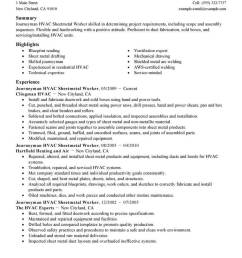 these resume examples are designed especially for sheetmetal workers and highlight the skills you ll need to get the job use these examples as a guide and  [ 800 x 1035 Pixel ]