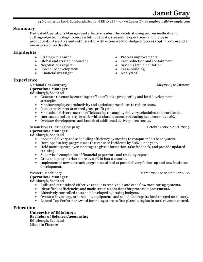resume examples janitorial services
