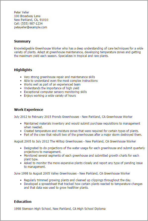 Agriculture & Environment Resume Templates To Impress Any