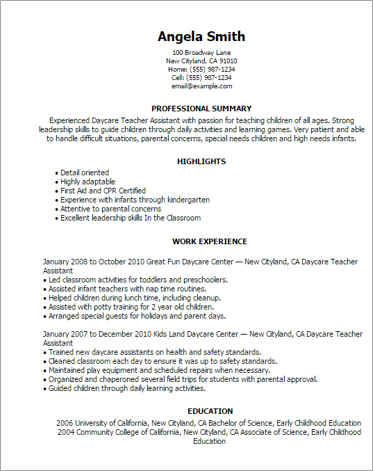 working holiday resume template