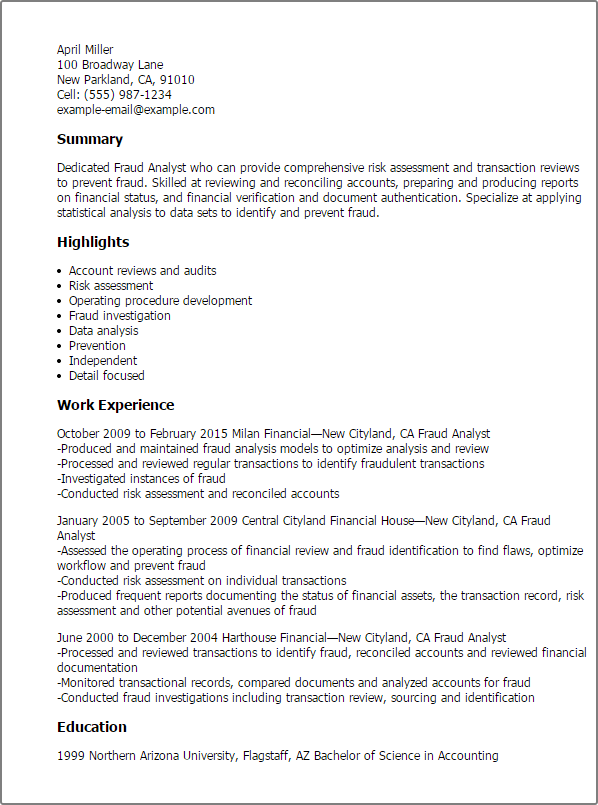 Finance Resume Templates To Impress Any Employer LiveCareer