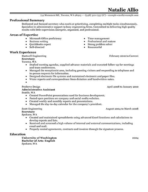 generic resume form