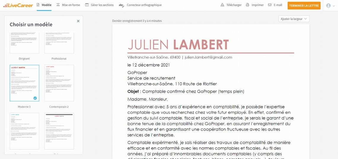 lettre administrative concours
