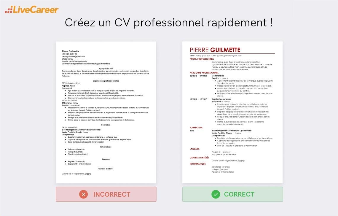 competences cv commerciaux