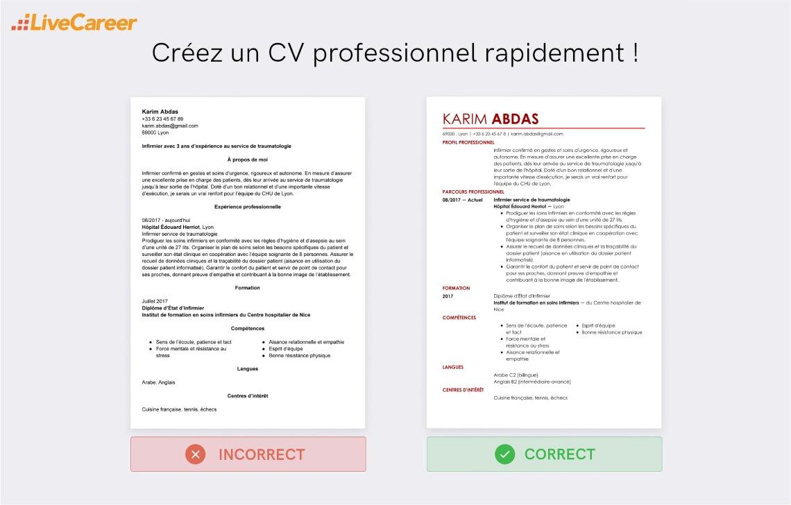 indeed cv francais et anglais