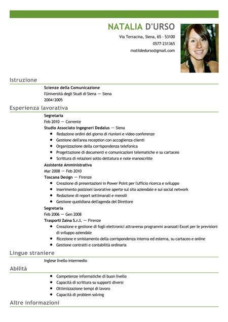 Modello Curriculum Vitae Europeo Salvatore Aranzullacurriculum Vitae